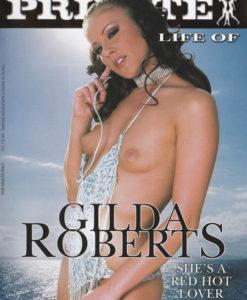 Collector Gilda Roberts cover face